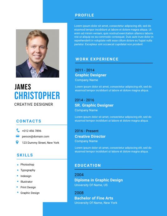 Resume Template Flyer (format US Letter)