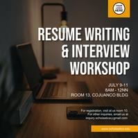 Resume Writing & Interview Workshop Post Instagram template