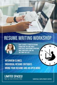 Resume Writing Workshop Flyer Template Poster