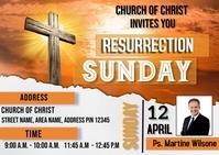 Resurrection day Carte postale template