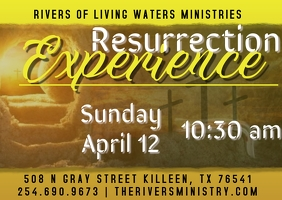 Resurrection Day Experience Postcard template