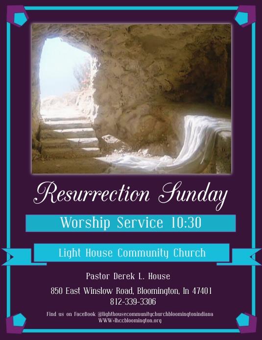 "Resurrection Sunday ""Empty Tomb"" Flyer"