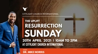resurrection SUNDAY church flyer Pantalla Digital (16:9) template