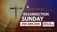 RESURRECTION SUNDAY church flyer Ekran reklamowy (16:9) template