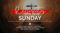 resurrection sunday church flyer Digital Display (16:9) template