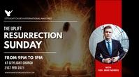 RESURRECTION SUNDAY church flyer Digitale display (16:9) template