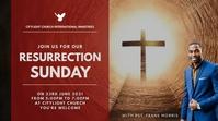 RESURRECTION SUNDAY church flyer Цифровой дисплей (16 : 9) template