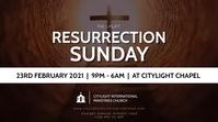 RESURRECTION SUNDAY CHURCH flyer Affichage numérique (16:9) template