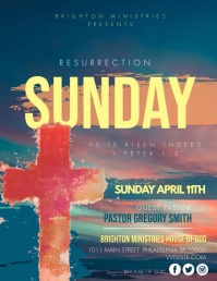 RESURRECTION SUNDAY ใบปลิว (US Letter) template