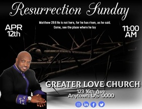 Resurrection Sunday Flyer (US Letter) template