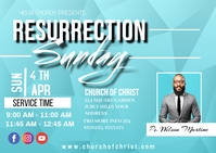 Resurrection sunday Postcard template