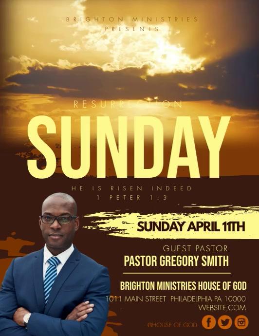 RESURRECTION SUNDAY Folder (US Letter) template