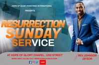 Resurrection Sunday Label template