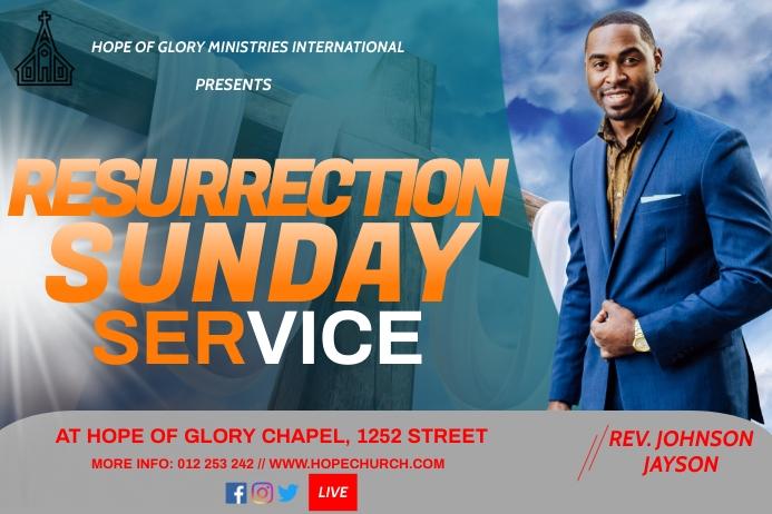Resurrection Sunday Etiket template