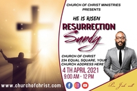 Resurrection sunday Poster template