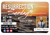 Resurrection sunday Postal template