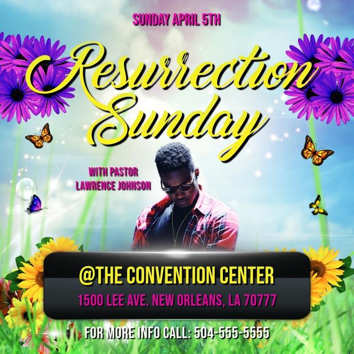 RESURRECTION SUNDAY EASTER CHURCH FLYER Copertina album template