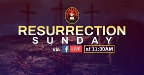 Resurrection Sunday Online Facebook Shared Image template