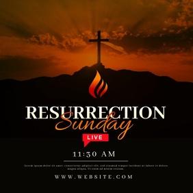 Resurrection Sunday Online Instagram 帖子 template