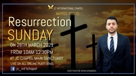 resurrection sunday poster Цифровой дисплей (16 : 9) template