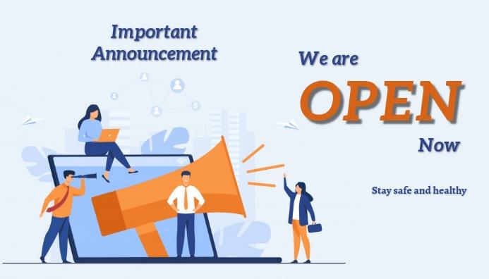 Retail ,Corona, announcement Blog overskrift template
