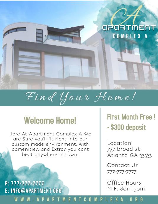 Retail Apartment Flyer