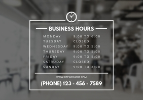 Retail Business Hours Signboard