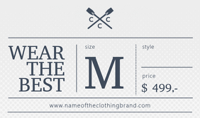 Retail Clothing Brand Tag