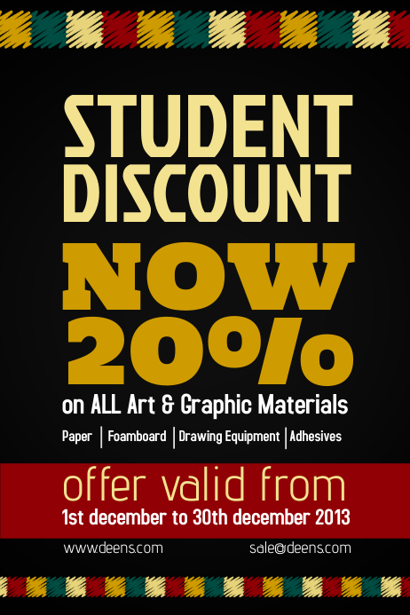 copy of retail discount flyer template
