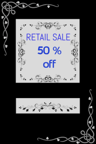 RETAIL FLYER DESIGN TEMPLATE,POSTER ,BANNER