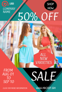 Retail flyer template,shopping flyer