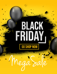 Retail flyers,Black Friday,Summer sale Рекламная листовка (US Letter) template