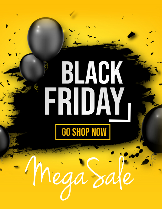 Retail flyers,Black Friday,Summer sale Løbeseddel (US Letter) template
