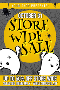 Retail Halloween Sale Poster