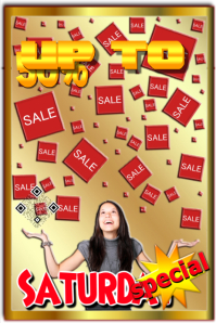 Retail poster: Golden style sale poster