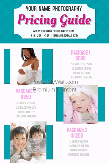 RETAIL pricing guide photo boxes templates flyer poster