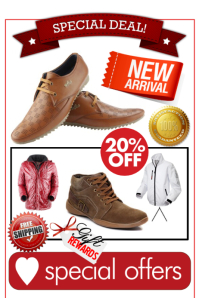 retail promotional flyer