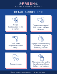 Retail Routine Cleaning Guide Poster