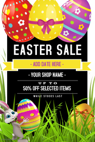Retail Sale Poster Flyer Easter