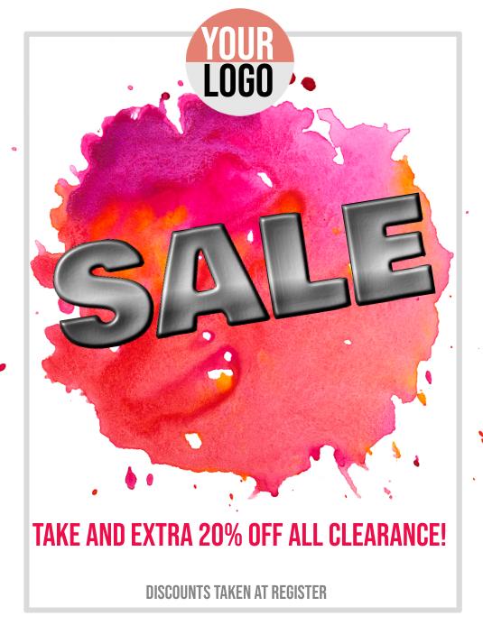 Retail Sale Event Flyer