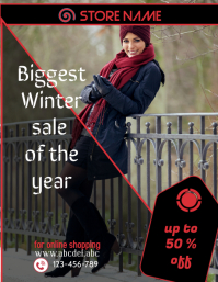 retail sale flyer,small business flyer,winter sale poster