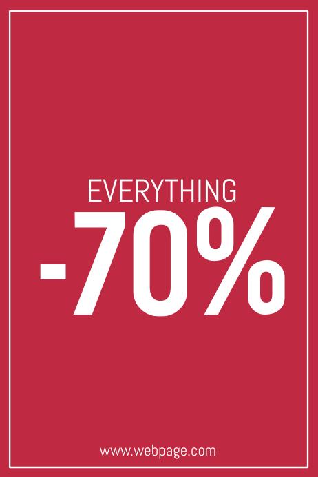retail sale promotion simple flyer template