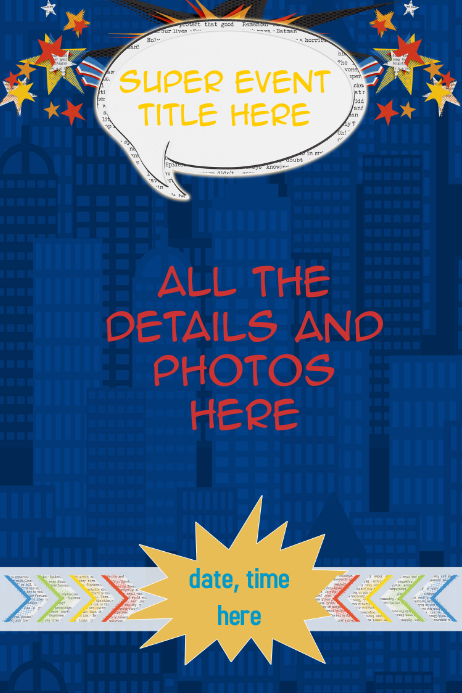 retail sales poster superhero personalized poster invitation template