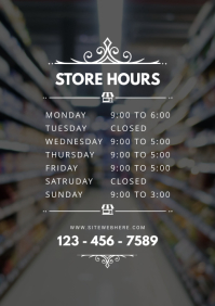 Retail Store Opening Timings Sign