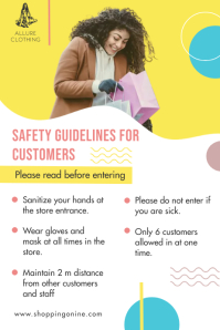 Retail Store Reopening Safety Guidelines Post