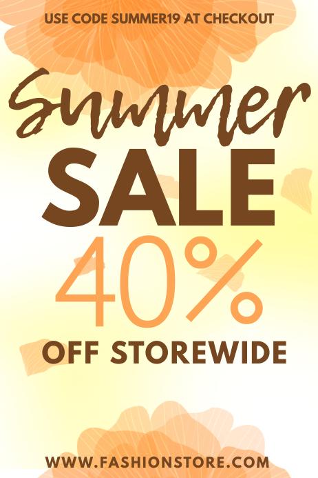 Retail Summer Sale Template