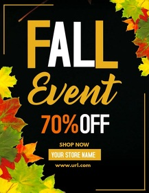 retail templates, Autumn flyers,Event flyers