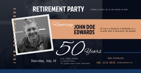 Retirement Invitation Facebook Shared Image template