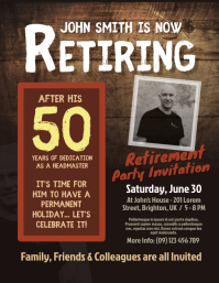 Retirement Invitation Flyer