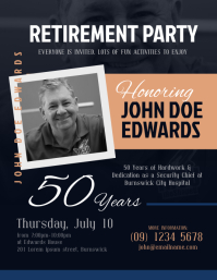 Retirement Invitation Flyer Template